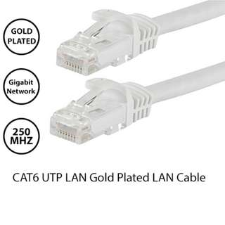 CAT6 UTP Gold Plated Patch Cord LAN Ethernet Cable