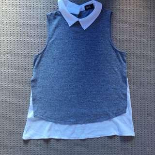 Dotti collared sleeveless top