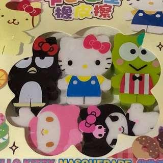 Sanrio characters eraser set