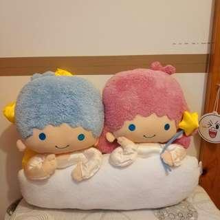 Sanrio 雙子星 Little twin star cushion毛公仔