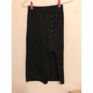 二手側開叉包臀裙