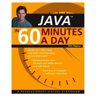 Java In 60 Minutes A Day (19 Lectures, 789 Page Full Colored Mega eBook)