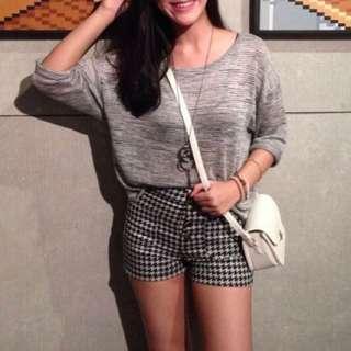 h&m grey loose knit top