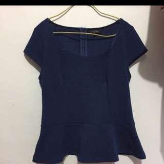 Top blouse L fit to XL kecil