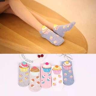 Cupcake Socks for women