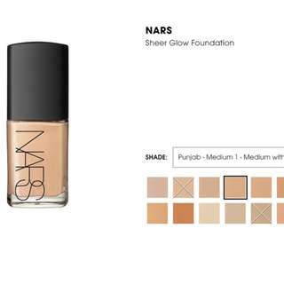 NARS Sheer Glow Foundation (PM me for the shade available)