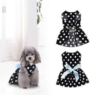 POLKA DOTS BLACK DRESS FOR PETS