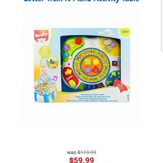 Toysrus Bru train activity table