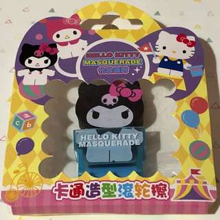 Sanrio kuromi eraser with dust roller