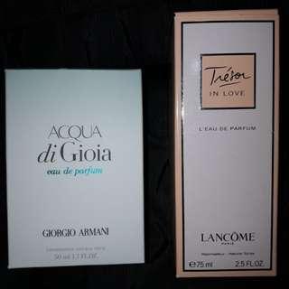 Lancome Trésor in Love + Acqua di Gioia