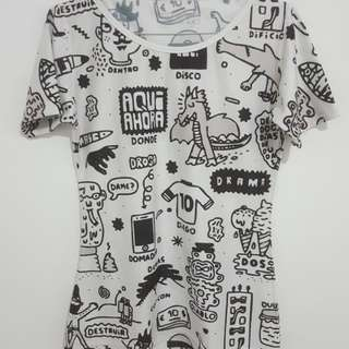 Doodle jersey tees