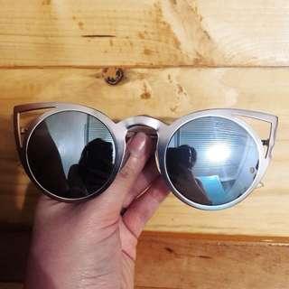 ALDO Metallic Gold Cat Eye Sunnies