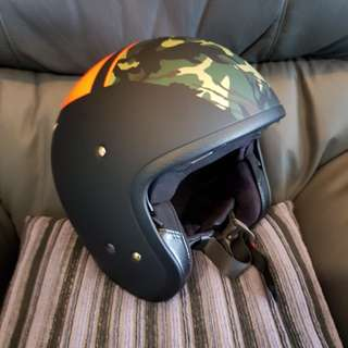 Shoei J.O Seafire Matte Black/Orange/Camo Helmet