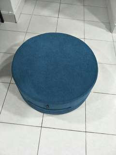 Round foot stool (Turquoise Color)
