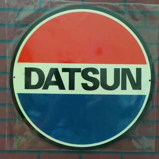 D62 Tin sign Datsun