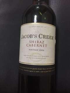 Jacob's creek Shiraz Cabernet vintage 2004