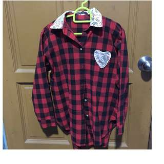 flannel shirt (Fit to size M)