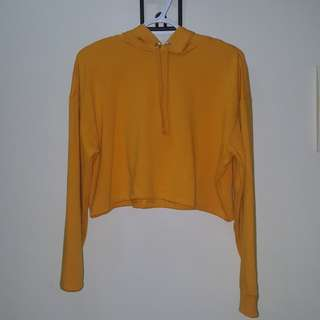 H&M Cropped Yellow Top/Sweater