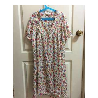 PAGEBOY 印花小立領中長洋裝/罩衫 $500