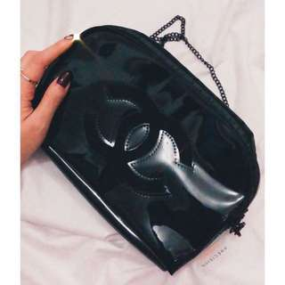 Chanel patent semi circle VIP GIFT AUTHENTIC