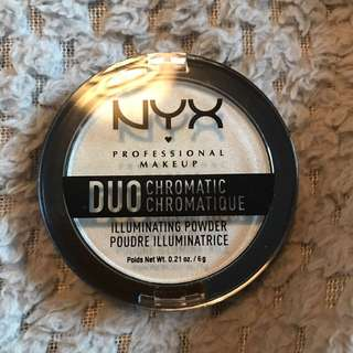 Nyx duo chromatic highlighter in twilight tint