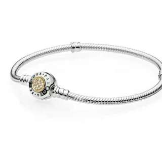 Pandora Moments Two Tone Bracelet with Pandora Signature Clasp