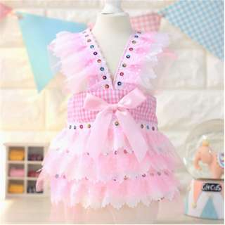 PINK RUFFLES DRESS FOR PETS