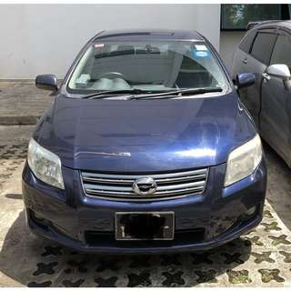 $50/day Toyota Axio 1.5A
