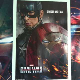 Captain America Civil War Poster (56x86)