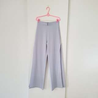 Light lavender flare pants