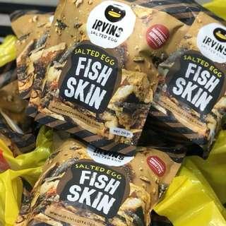 新加坡直送 Irvins咸蛋魚皮 - 230g(大包)
