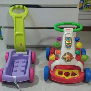 Fisher Price Walker Toy And FOC Mega Bloks Trolley