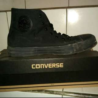 Converse All Star Full Black Grade Ori.