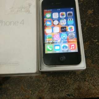 Iphone 4 32gb black mulus fullset ex international ios 7