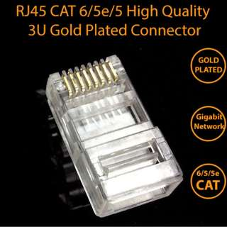RJ45 8P8C CAT6/5/5e Modular Plug Connector