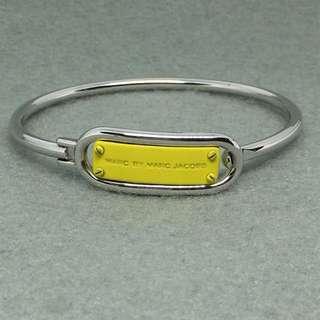 Marc Jacobs Sample Bangle 黃色銀色logo手鈪 開口扣