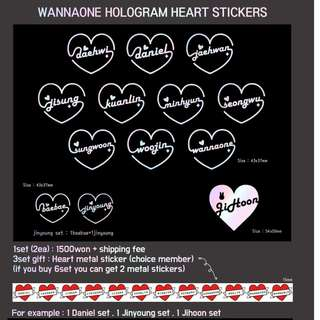 [PH GO] [PRE-ORDER] WANNA ONE HOLOGRAM STICKERS