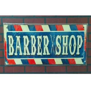 C20 Tin sign Barber shop