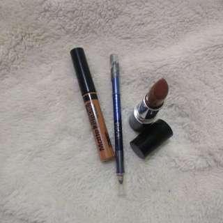 Lipstik and eyeliner