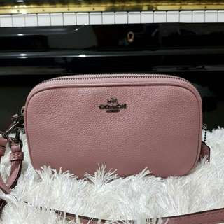 Coach Double Zip Crossbody Dusty Rose