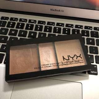 NYX cream contour palette