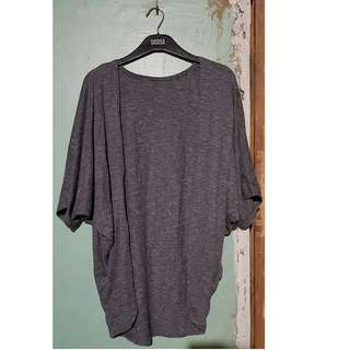Plus-size grey cardigan