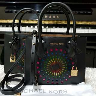 Michael Kors Mini Mercer Black Leather