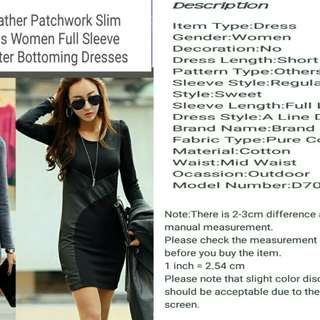 Autumn Winter.Bottoming Dress