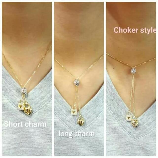 18k saudi gold adjustable necklace...