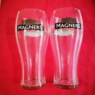 2pcs Magners Cider/Beer glass 啤酒杯 (90% new)