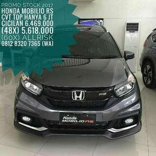 STOK 2017 HONDA MOBILIO RS CVT TDP HANYA 6 JT