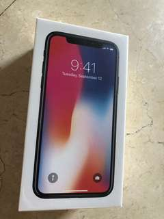 Brand New Unboxed iPhone X space gray 64GB