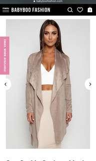 BNWT Dusty nude seude coat