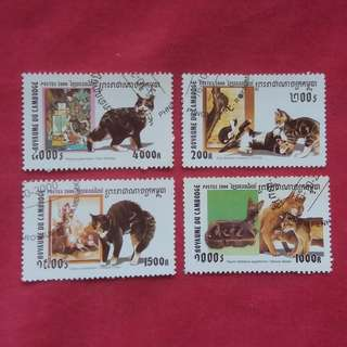 CATS ROYAUME DU CAMBODGE  POSTES 2000